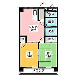 メゾン美竹[4階]の間取り