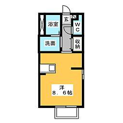 ブルック・ハウス A棟[1階]の間取り