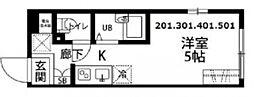 プラティーク高井戸[201号室号室]の間取り