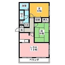 ファミール2000A[3階]の間取り