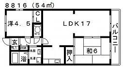 メゾン藤井寺[405号室号室]の間取り