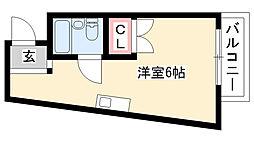 愛知県名古屋市昭和区檀溪通3丁目の賃貸マンションの間取り