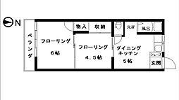 フラッツ山手[2F-11号室号室]の間取り