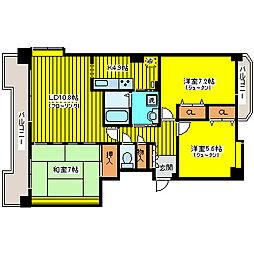 北海道札幌市東区北四十六条東16丁目の賃貸マンションの間取り