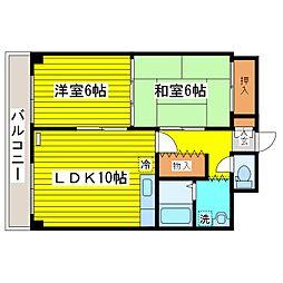 北海道札幌市東区北十二条東14丁目の賃貸マンションの間取り