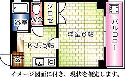 ファミール松井[401号室]の間取り