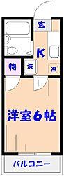 ココ・パームス・アライ[203号室]の間取り
