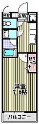フジパレス楠町[2階]の間取り