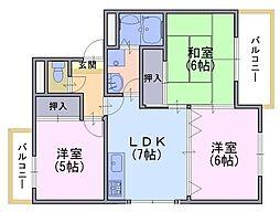 リヴラン・ジェイ[3階]の間取り