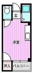 コンフートエビス[2階]の間取り