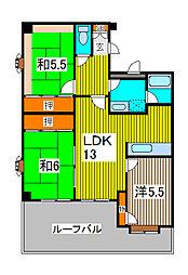 プリンシパル浦和[3階]の間取り