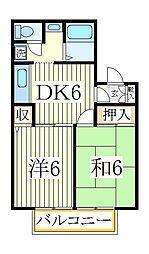 メゾン松本D[1階]の間取り
