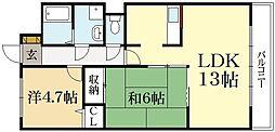 ジャイプール[3階]の間取り
