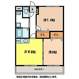 レジデンス箕輪[2階]の間取り