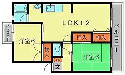 鳥井コーポ[305号室]の間取り