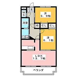 メゾンファミーユ[5階]の間取り