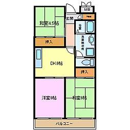 サーティ西尾[5階]の間取り