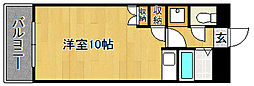 福岡県福岡市東区八田3丁目の賃貸マンションの間取り