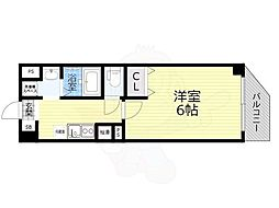 Osaka Metro谷町線 太子橋今市駅 徒歩2分の賃貸マンション 3階1Kの間取り