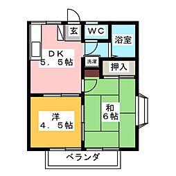 クイーンハイツII[2階]の間取り