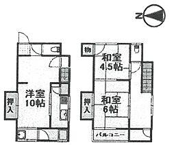 [テラスハウス] 兵庫県伊丹市昆陽池2丁目 の賃貸【/】の間取り