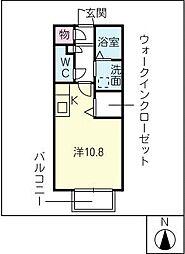 ソエルK[2階]の間取り