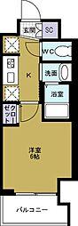 エステムコート難波WESTSIDE5アジュール[8階]の間取り
