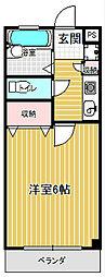 コンフォートマンション桜木町[832号室]の間取り