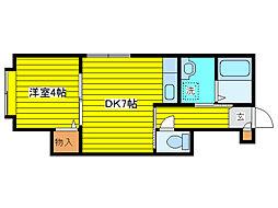 北海道札幌市東区北十三条東16丁目の賃貸アパートの間取り