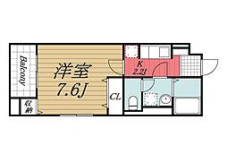 JR総武本線 佐倉駅 徒歩4分の賃貸マンション 3階1Kの間取り