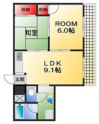 久保興産ビル[5階]の間取り