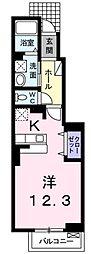 JR東海道・山陽本線 彦根駅 徒歩9分の賃貸アパート 1階1Kの間取り