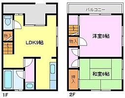 [一戸建] 大阪府堺市西区鳳南町2丁 の賃貸【/】の間取り