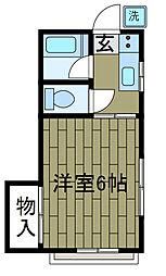 橋本ハイム[2階]の間取り