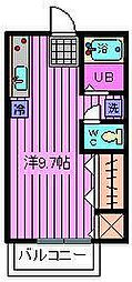 埼玉県さいたま市見沼区南中丸の賃貸アパートの間取り