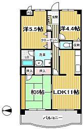 リーセント石神井台[2階]の間取り