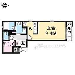 THE GARNET SUITE RESIDENCE龍谷大前 3階1Kの間取り