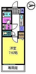 大阪府堺市北区奥本町2丁の賃貸アパートの間取り