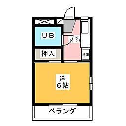 田村コーポ1[3階]の間取り