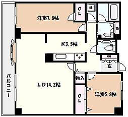 芦屋川ウエストアーバンライフ[2階]の間取り