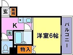 シティハイツ須磨[5階]の間取り