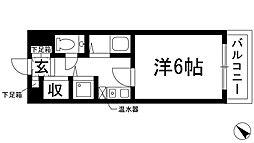 マグノリア箕面[4階]の間取り