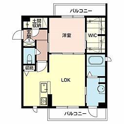 堺市東区シャーメゾン西野[2階]の間取り