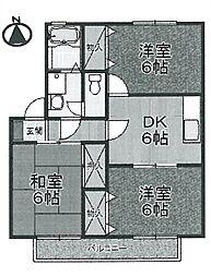 [タウンハウス] 兵庫県伊丹市西野2丁目 の賃貸【/】の間取り