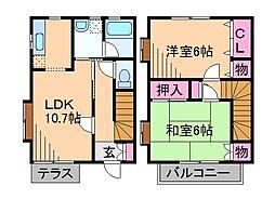 [テラスハウス] 神奈川県横浜市都筑区中川7丁目 の賃貸【/】の間取り