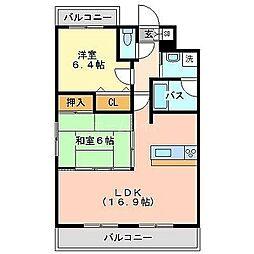 アトラスアルファーノ箱崎[8階]の間取り
