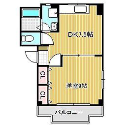 愛知県名古屋市中川区法華西町5丁目の賃貸マンションの間取り