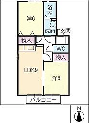 セジュール堂田[1階]の間取り