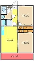 アゾラーレ五井[503号室]の間取り