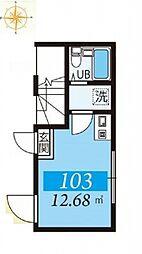 東京都江東区大島6丁目の賃貸アパートの間取り